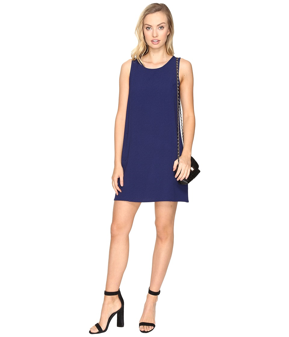 Jack by BB Dakota Ballard Crepe Shift Dress (Lapis Blue) Women's Dress
