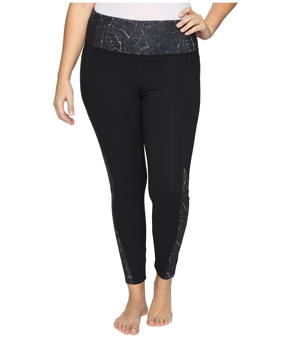 Marika Curves - Plus Size Skyward Leggings (Marble Grunge Print) Women's Casual Pants