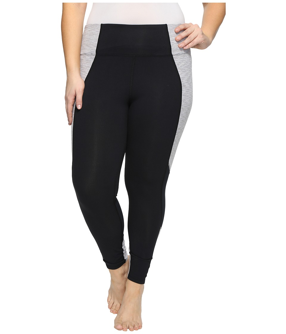 Marika Curves - Plus Size Xtreme Spliced Leggings (Black/Vapor Ink) Women's Casual Pants
