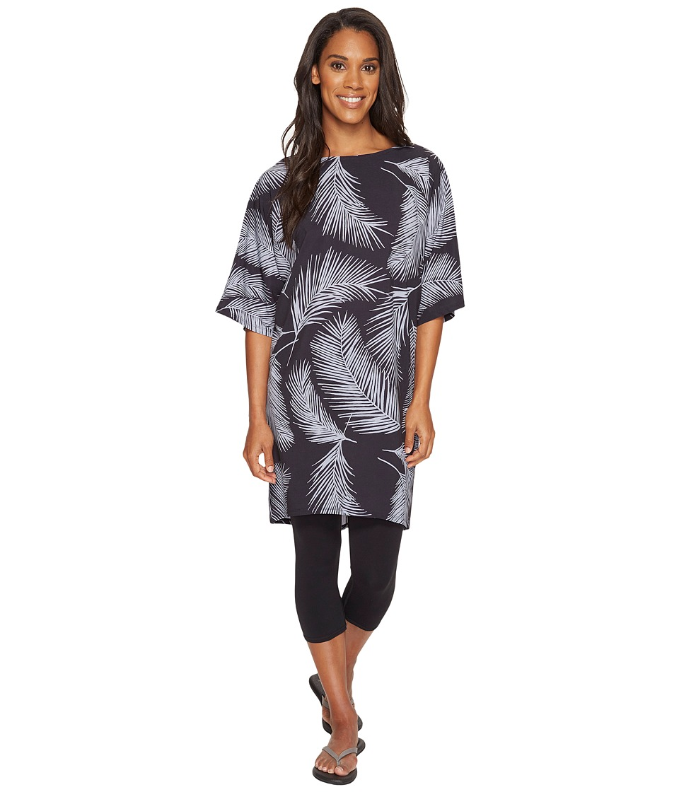 Lucy - Wonder Away Tunic (Lucy Black Palm Print) Women's Blouse