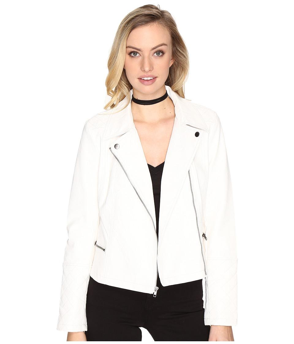 Jack by BB Dakota - Blossom Tumbled PU Moto Jacket (Ivory) Women's Coat
