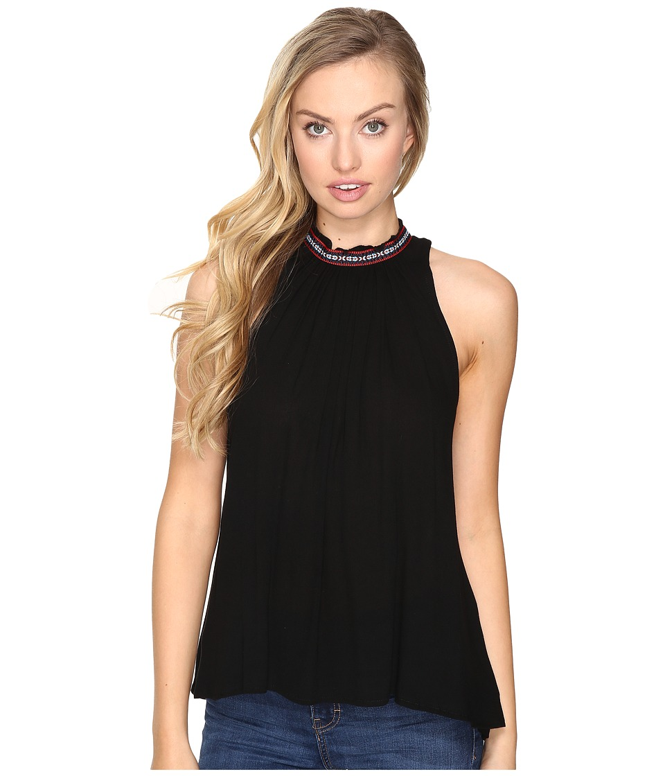 Jack by BB Dakota - Nettle Ribon Trim Gathered Tank Top (Black) Women's Sleeveless