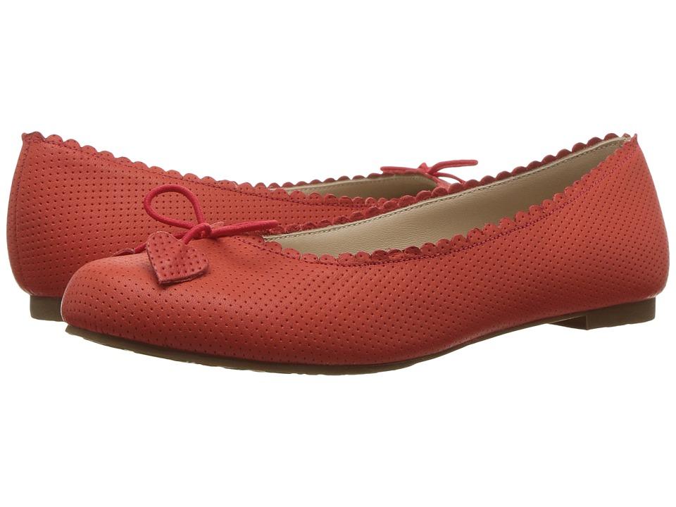 Elephantito Scalloped Ballerina (Toddler/Little Kid/Big Kid) (Ferrari Red) Girls Shoes