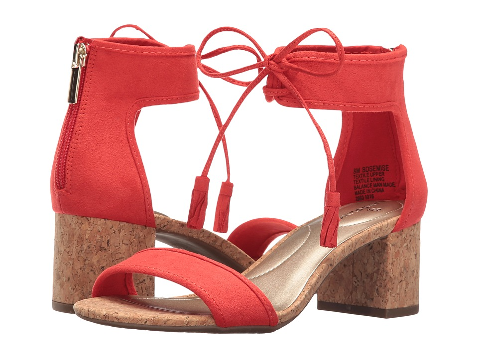 Bandolino Semise (Red Faux Suede) Women