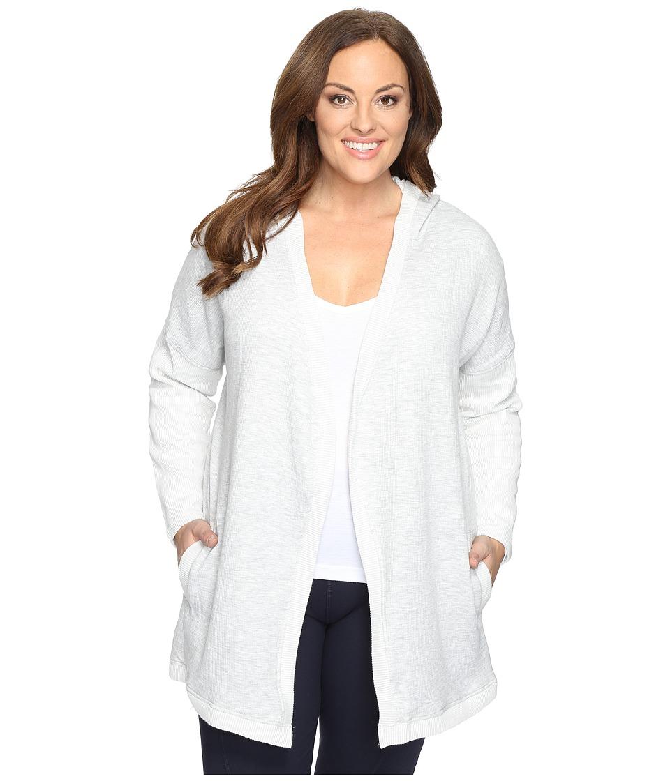 Marika Curves - Plus Size Collette Cardigan (Heather Grey) Women's Sweater