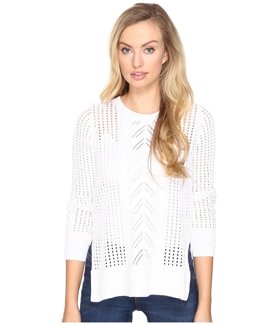 Jack by BB Dakota - Addae Drop Needle Pattern Sweater (Bright White) Women's Sweater