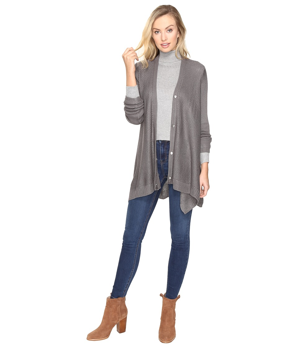 Jack by BB Dakota - Aikin Soft Buttoned Cardigan (Nickel Grey) Women's Sweater