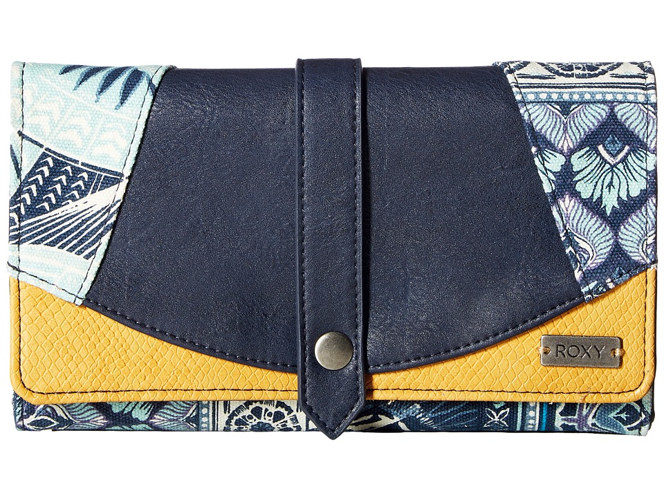 Roxy - Little Boxy Wallet (Dress Blue Ax Hippie Hop Border) Wallet Handbags