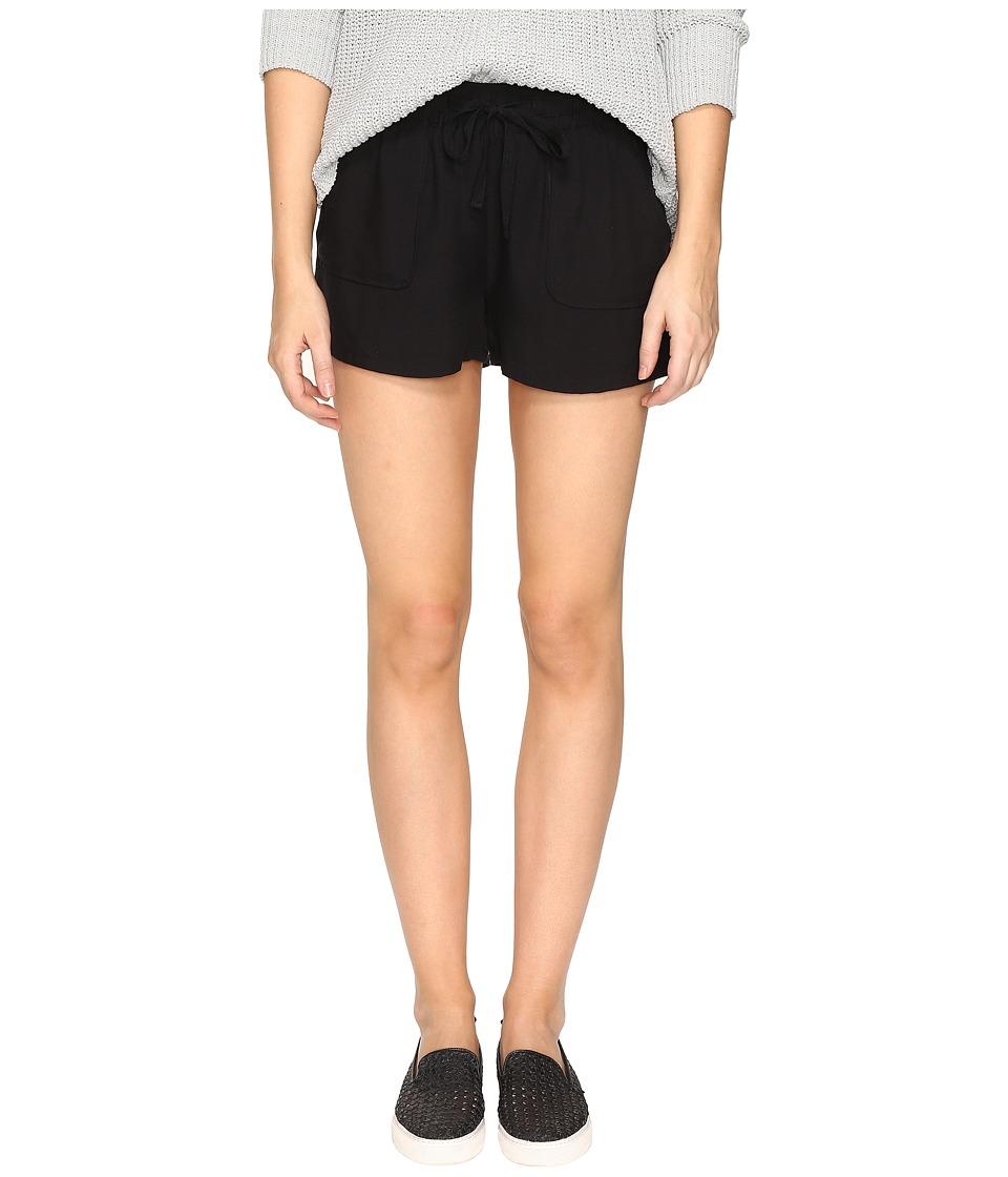 Jack by BB Dakota - Marlin Rayon Twill Drawstring Shorts (Black) Women's Shorts