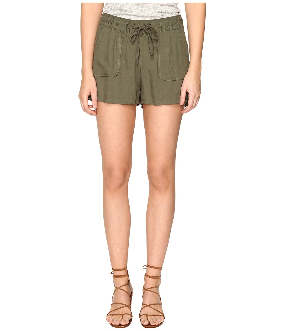 Jack by BB Dakota - Marlin Rayon Twill Drawstring Shorts (Fern Green) Women's Shorts