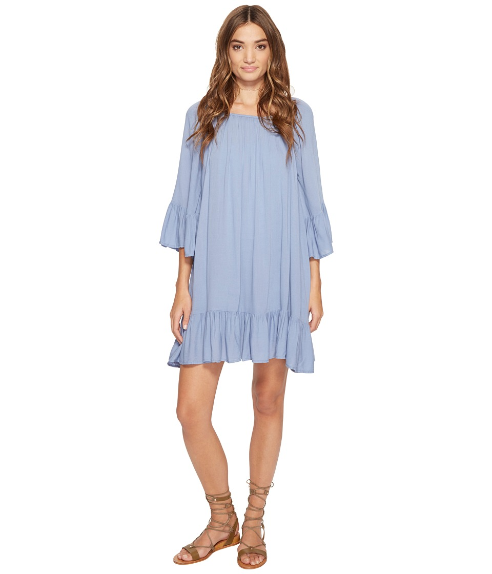 Jack by BB Dakota - Cordy Rayon Crepe Flowy Dress (Stonewash Blue) Women's Dress