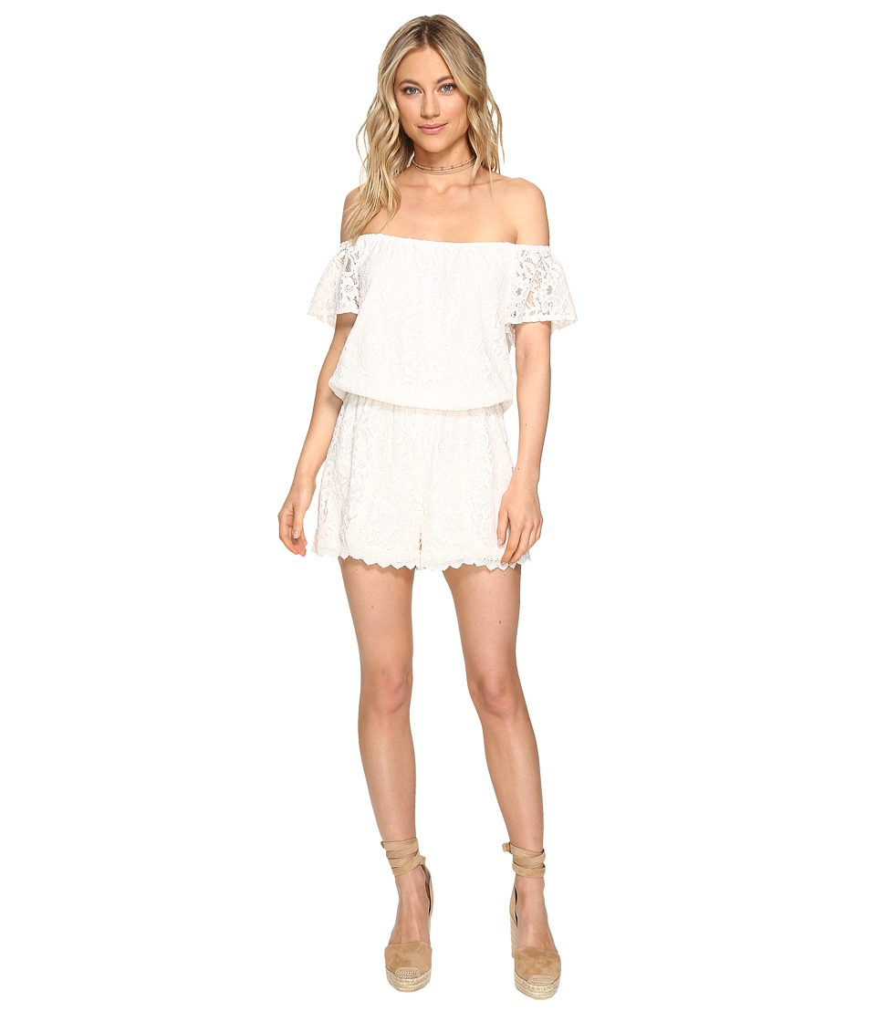 Jack by BB Dakota - Liam Lace Off Shoulder Romper (Ivory) Women's Jumpsuit & Rompers One Piece