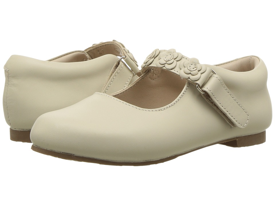 Elephantito - Flower Mary Jane (Toddler/Little Kid) (Ivory) Girls Shoes