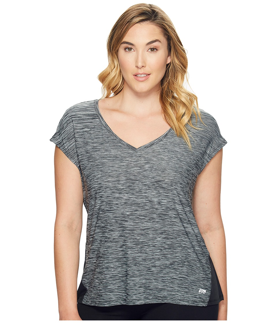 Marika Curves - Plus Size Charged T-Shirt (Black) Women's T Shirt