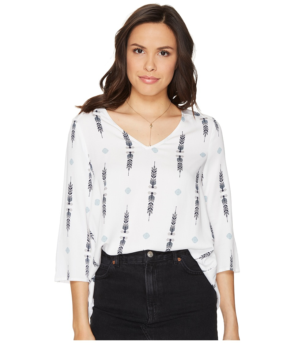 Jack by BB Dakota - Staranise Printed Top (Bright White) Women's Clothing