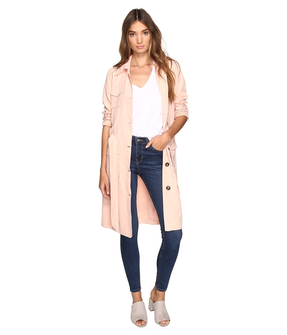 Jack by BB Dakota - Artemis Trench Coat (Dusty Rose) Women's Coat