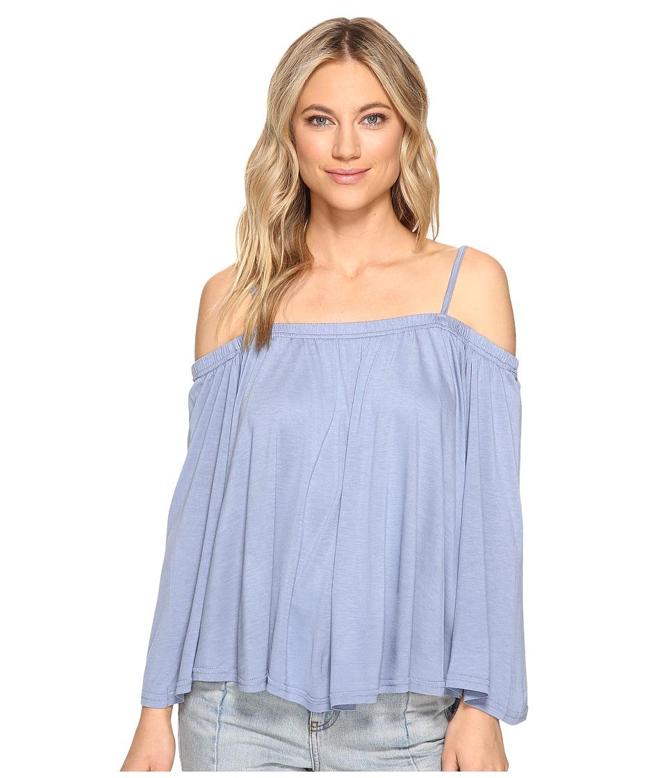Jack by BB Dakota - Marpesha Off Shoulder Top (Stonewash Blue) Women's Clothing