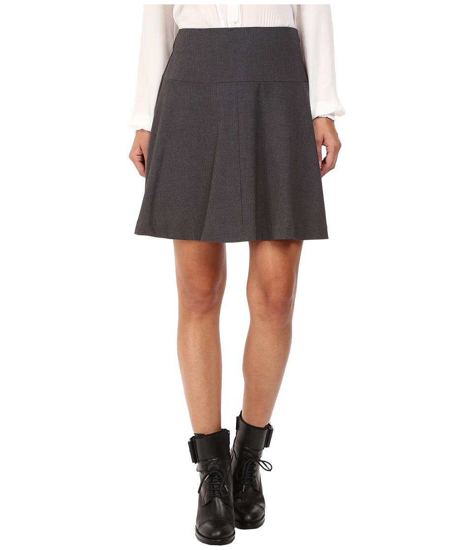 kensie Heather Stretch Crepe Skirt KS8K6S59 (Heather Dark Grey) Women