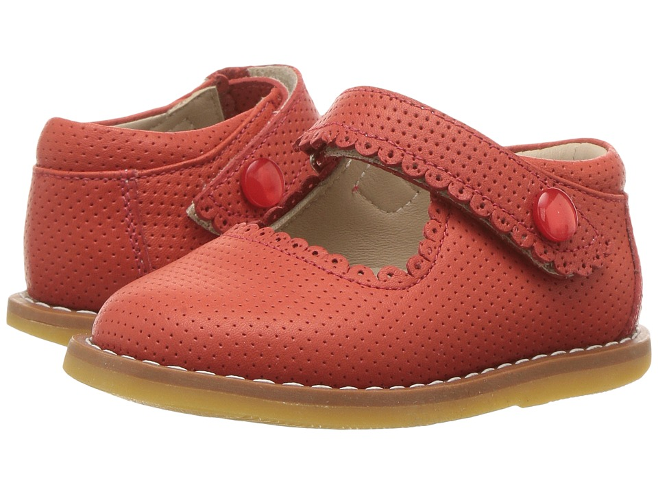 Elephantito - Mary Jane (Toddler) (Ferrari Red) Girls Shoes