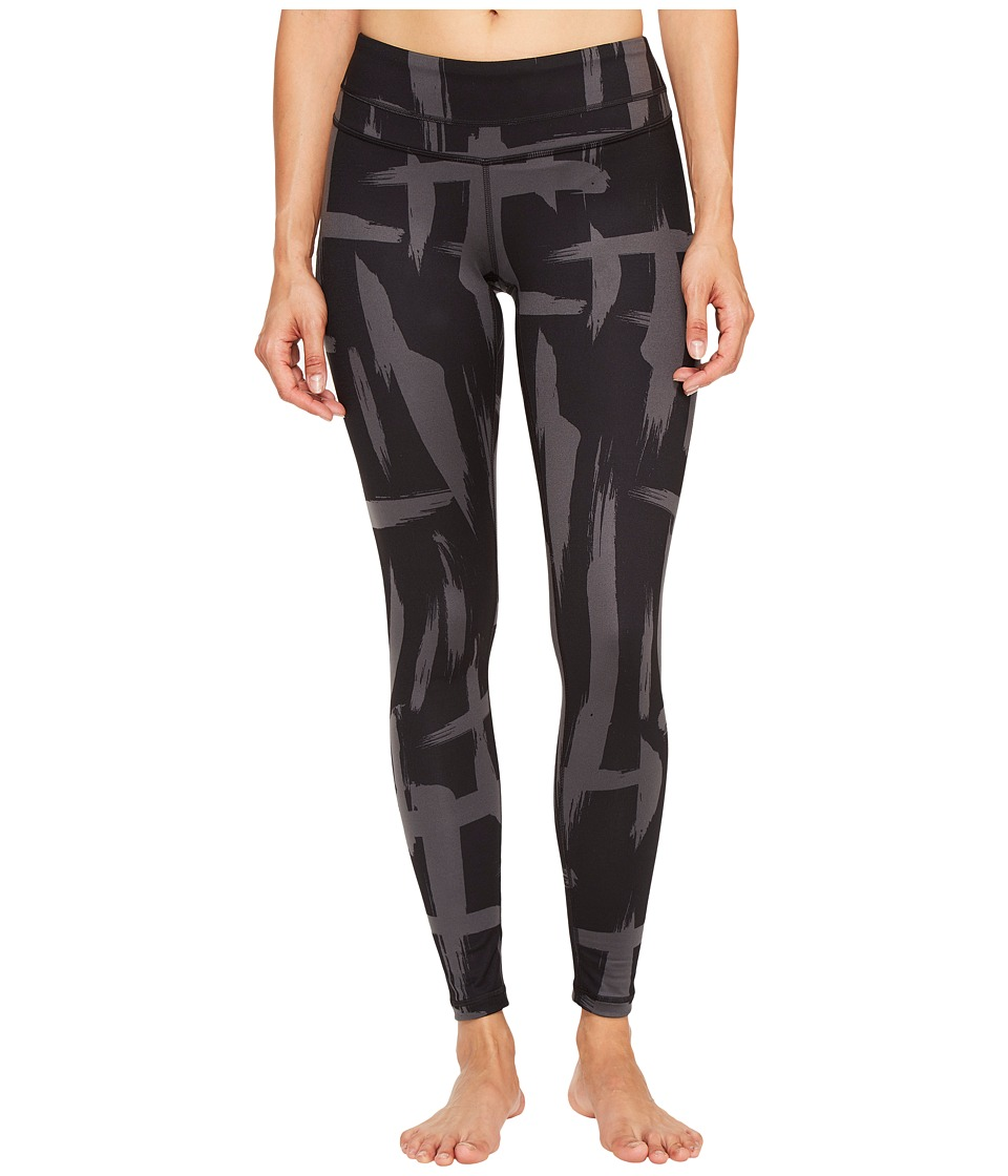 Lucy - Studio Hatha Legging (Lucy Black/Fossil Brush Stroke Print) Women's Workout