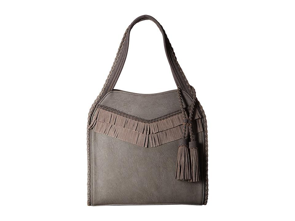 Steve Madden - Jkorey Leather Trim Hobo (Grey) Hobo Handbags