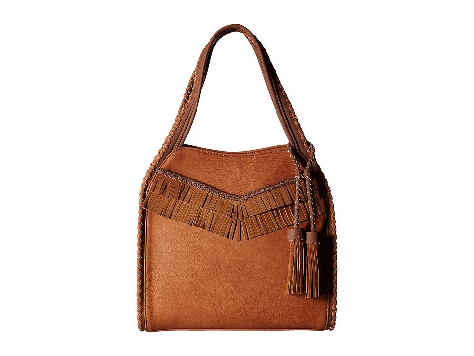 Steve Madden - Jkorey Leather Trim Hobo (Tan) Hobo Handbags