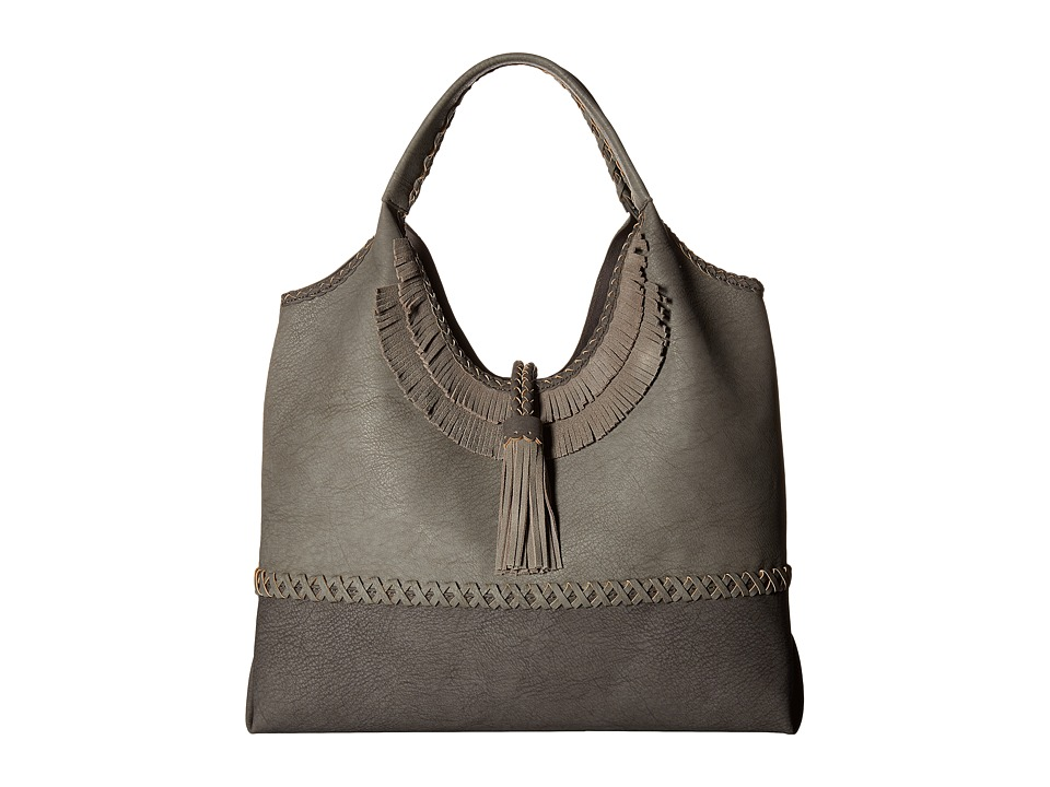 Steven - Jkhloe Hobo Leather Trim (Grey) Hobo Handbags