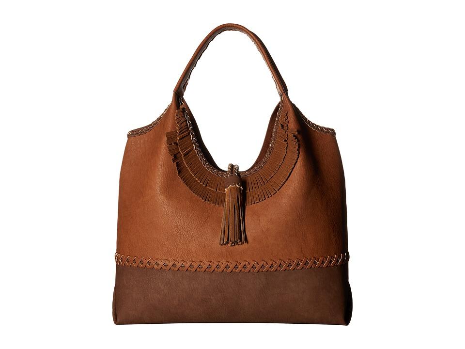 Steven - Jkhloe Hobo Leather Trim (Tan) Hobo Handbags