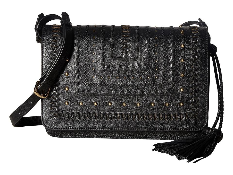 Steven - Jalina Flapover (Black) Handbags