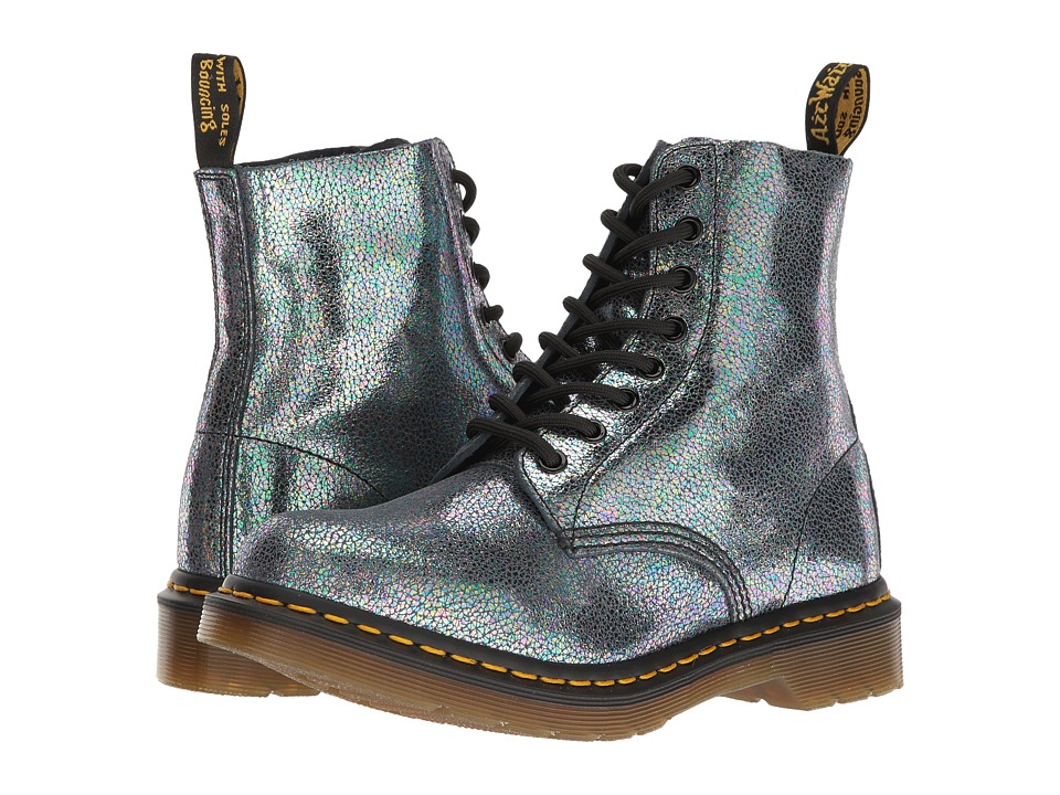 Dr. Martens - Pascal TP Split (Grey) Women's Lace-up Boots