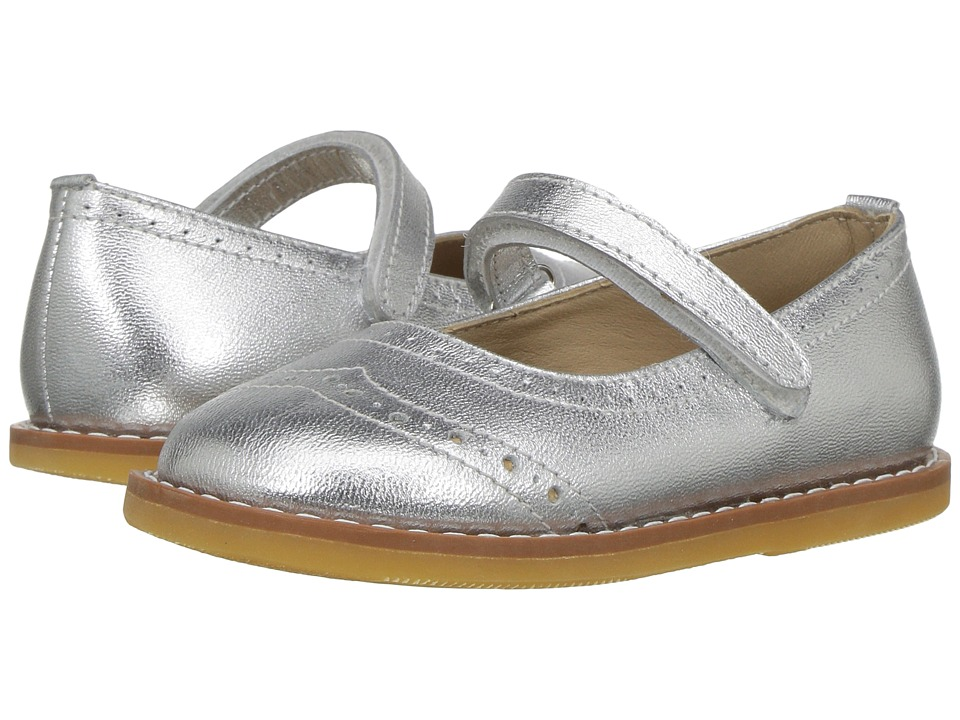 Elephantito - Martina Flats (Toddler) (Silver) Girls Shoes