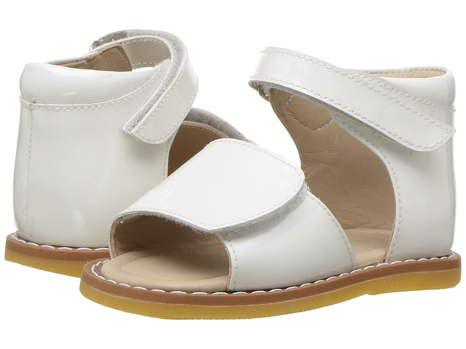 Elephantito - Claire Sandal (Toddler) (White) Girls Shoes