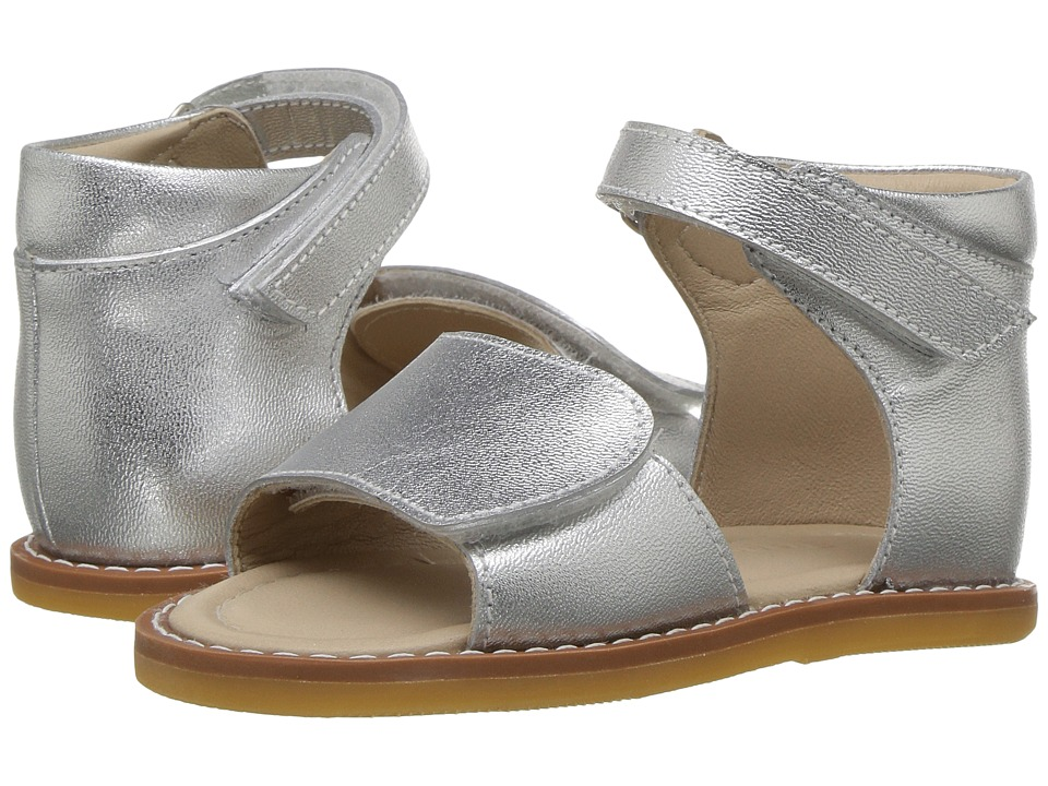 Elephantito - Claire Sandal (Toddler) (Silver) Girls Shoes