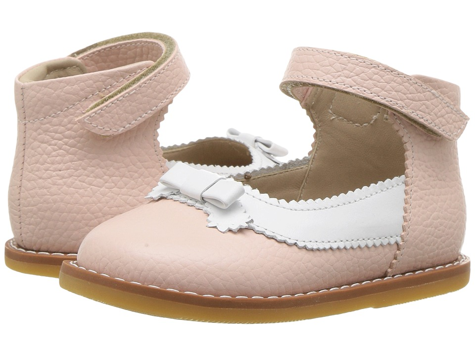 Elephantito - Mary Jane w/ Bow (Infant/Toddler) (Pink/White) Girls Shoes