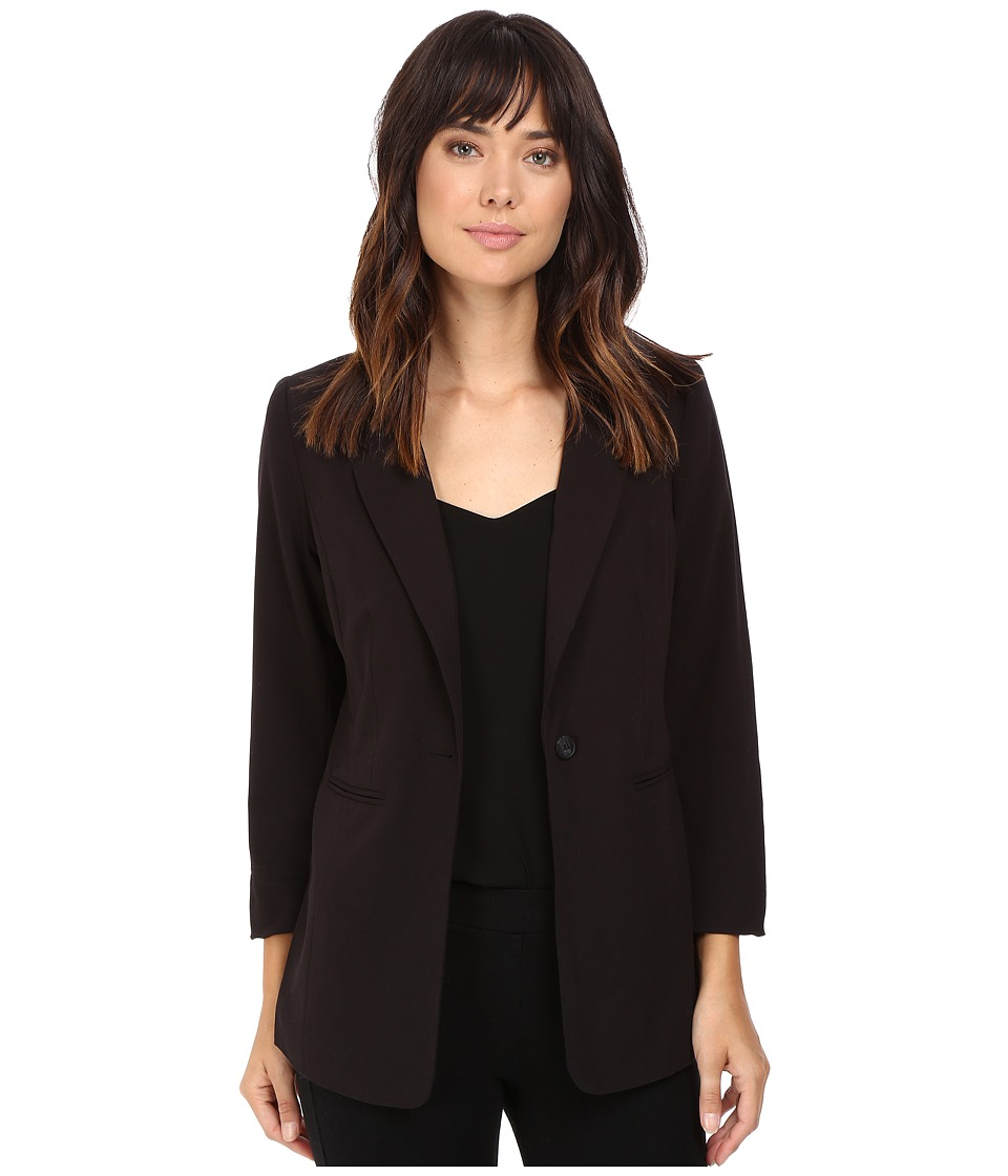 kensie - Stretch Crepe Longer Blazer KS8K2S44 (Black) Women's Jacket