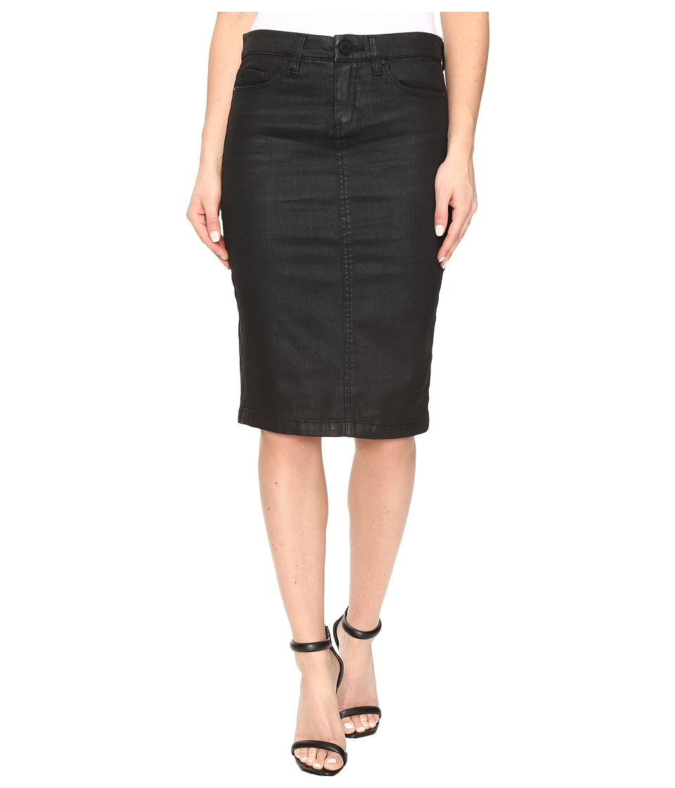Blank NYC Black Coated Pencil Skirt in All Lacquered Up (All Lacquered Up) Women