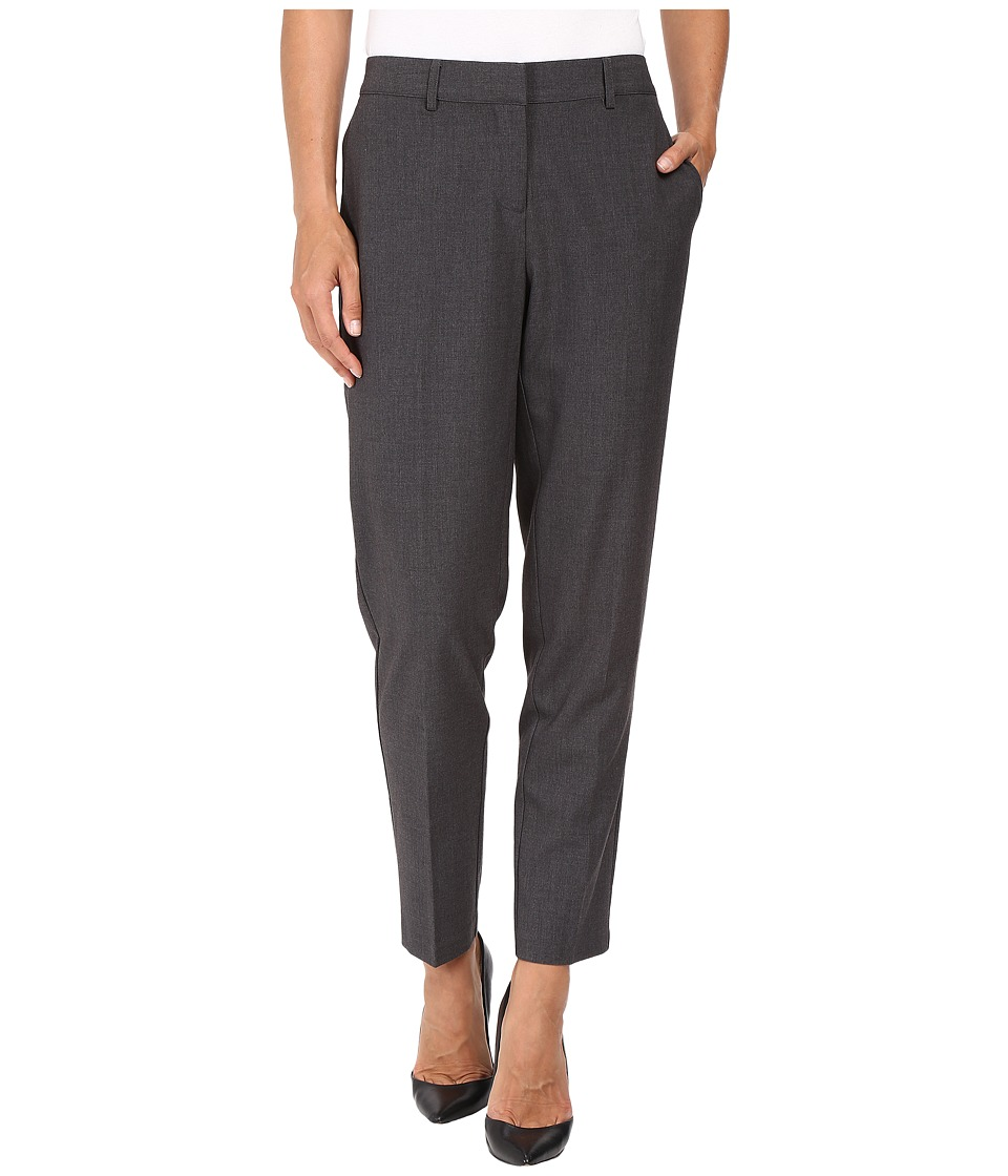 kensie - Heather Stretch Crepe Pants KS8K1S78 (Heather Dark Grey) Women's Casual Pants