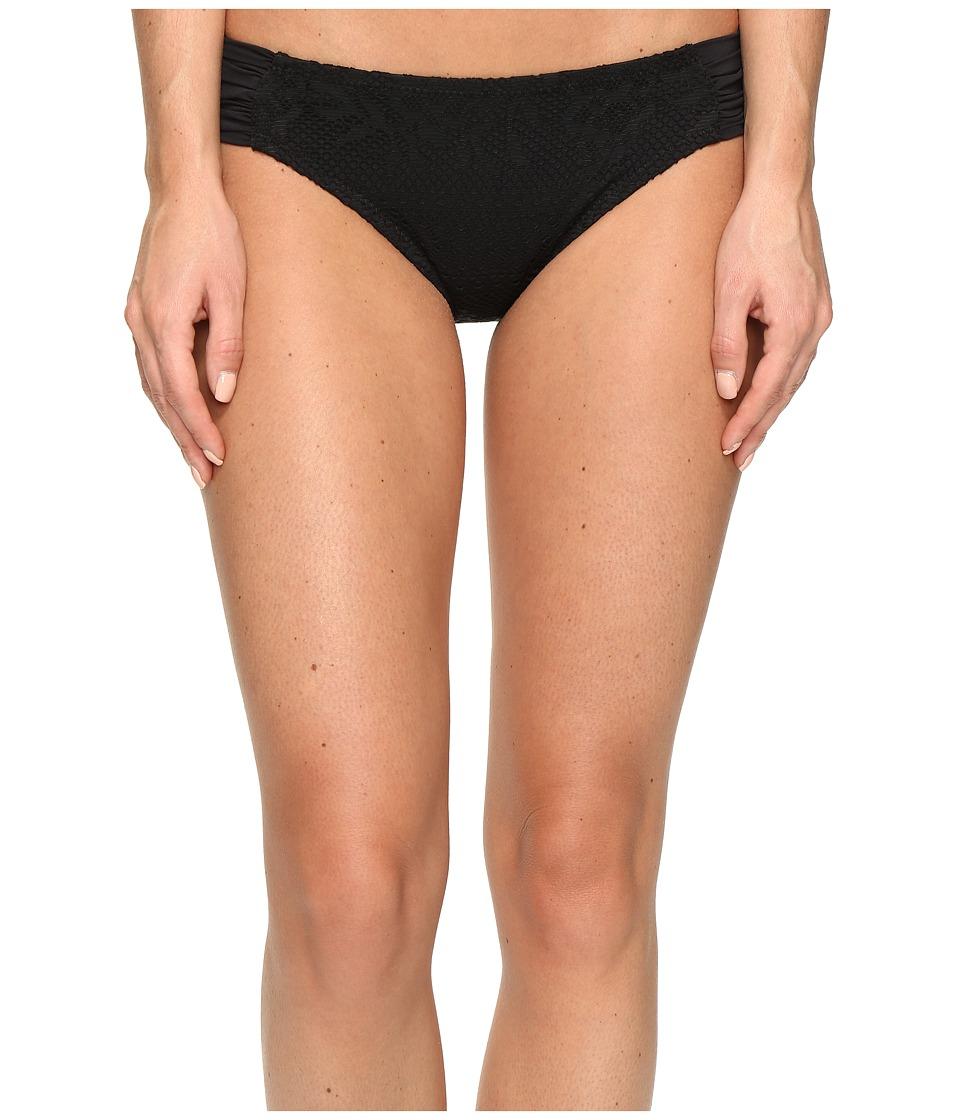 BECCA by Rebecca Virtue - Prairie Rose American Tab Side Bottoms (Black) Women's Swimwear