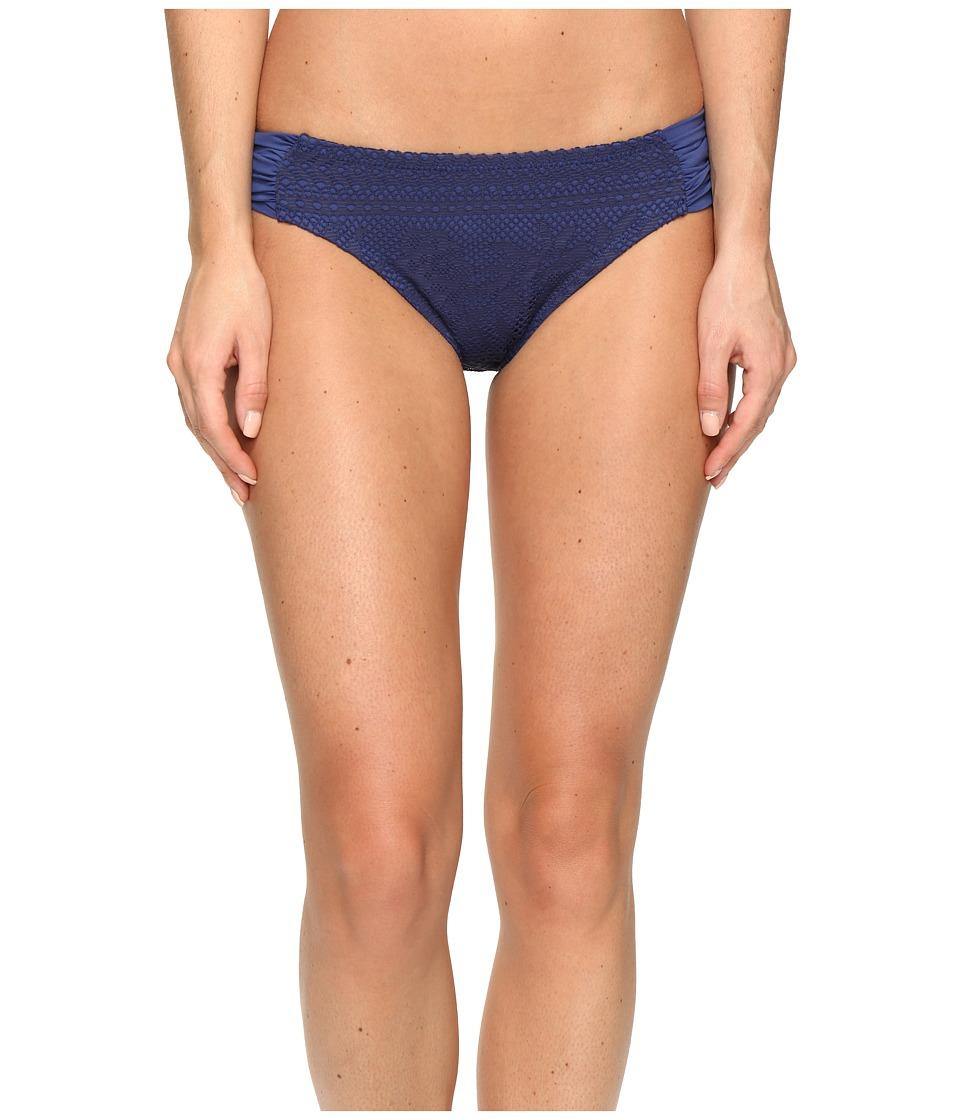BECCA by Rebecca Virtue - Prairie Rose American Tab Side Bottoms (Dark Denim) Women's Swimwear