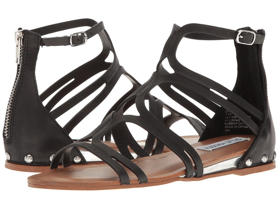Steve Madden Delta (Black Leather) Women