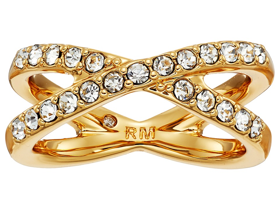 Rebecca Minkoff - X Pave Ring (Gold/Crystal) Ring