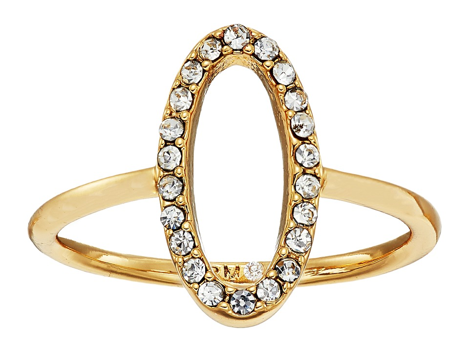 Rebecca Minkoff - 0 Shaped Pave Ring (Gold/Crystal) Ring