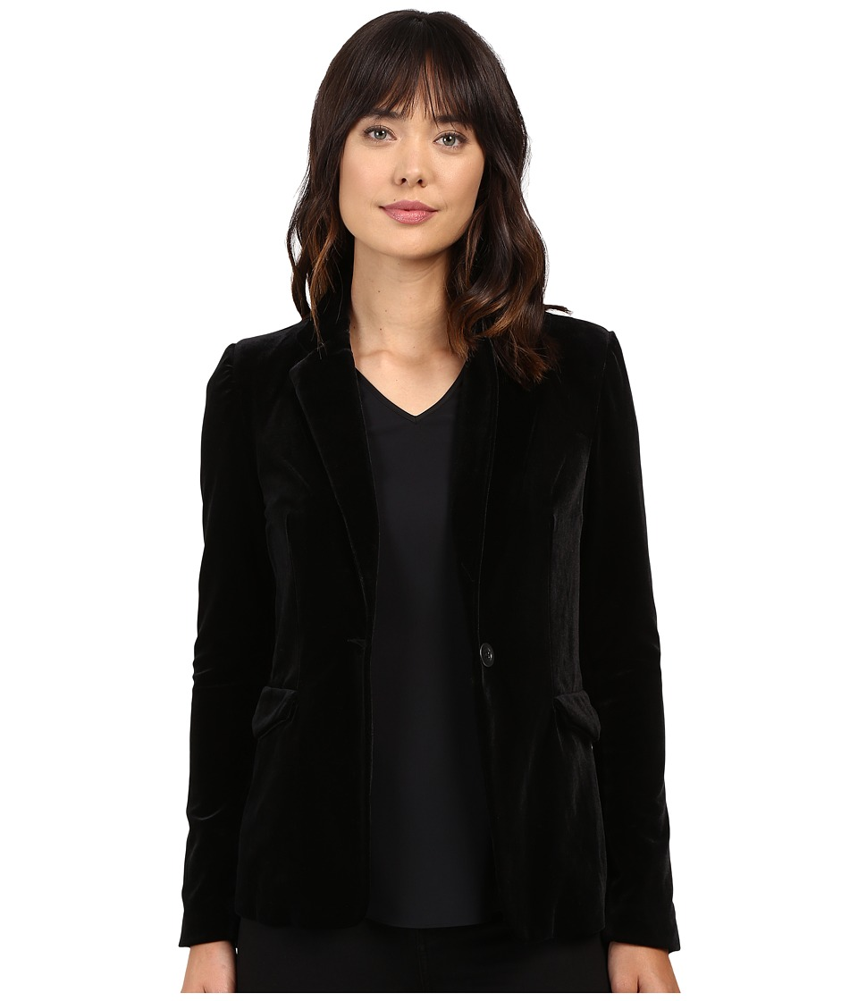 Blank NYC - Velvet Black Blazer in The New Black (The New Black) Women's Jacket