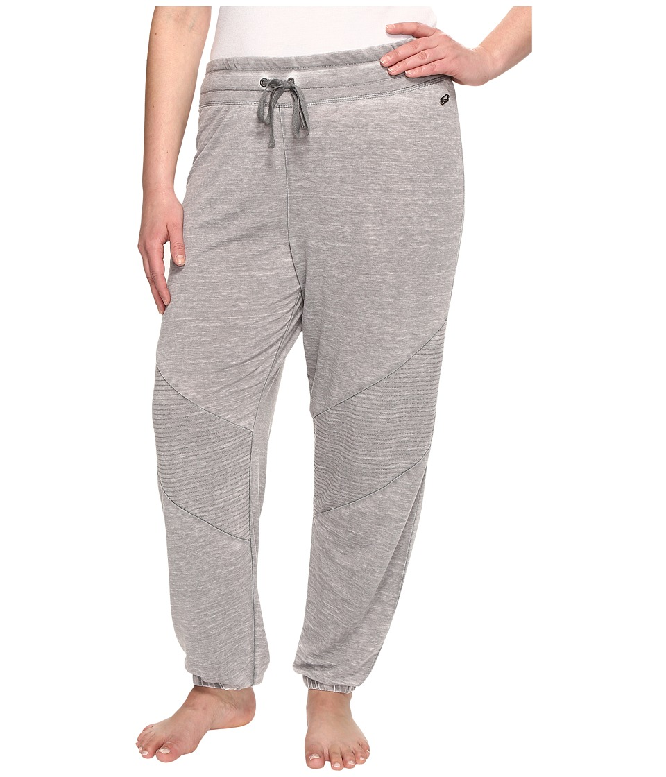 Marika Curves - Plus Size Quilted Jogger (Grey) Women's Workout