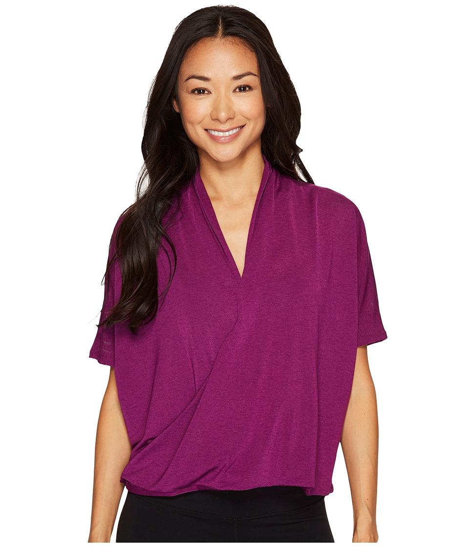 Lucy - Yoga Flow Short Sleeve (Gloxinia) Women's Clothing