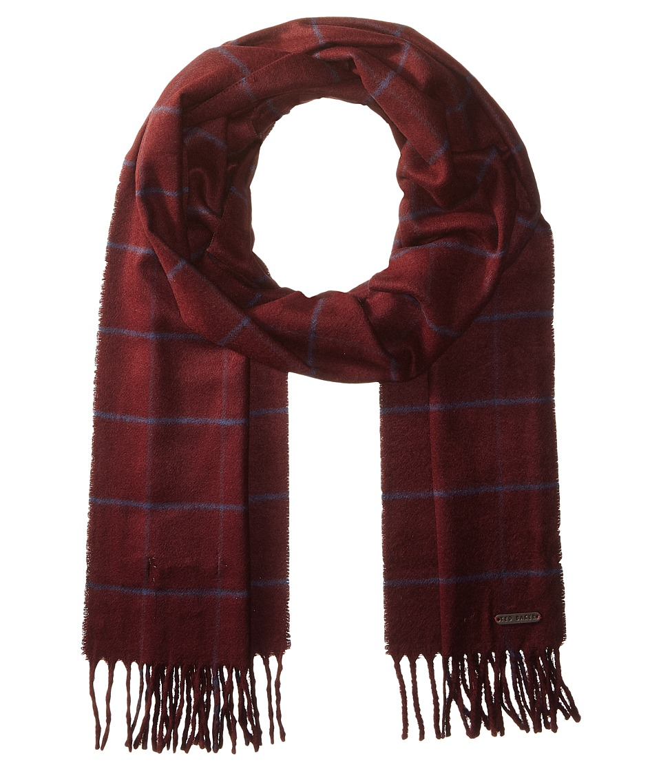 Ted Baker - Flint (Dark Red) Scarves