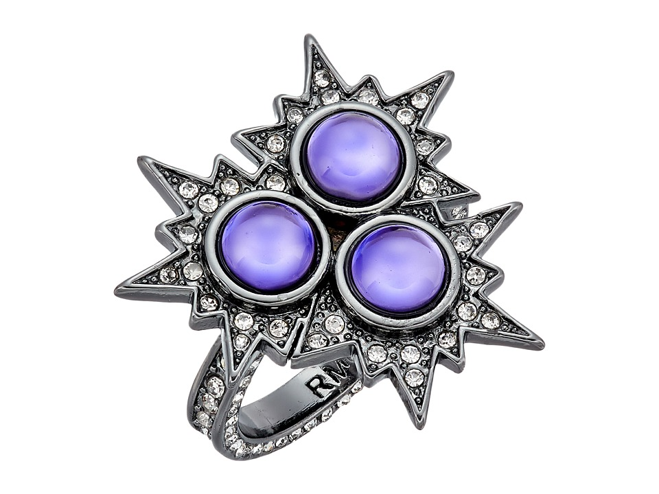 Rebecca Minkoff - Rock N Roll Statement Ring (Gunmetal/Lavender) Ring