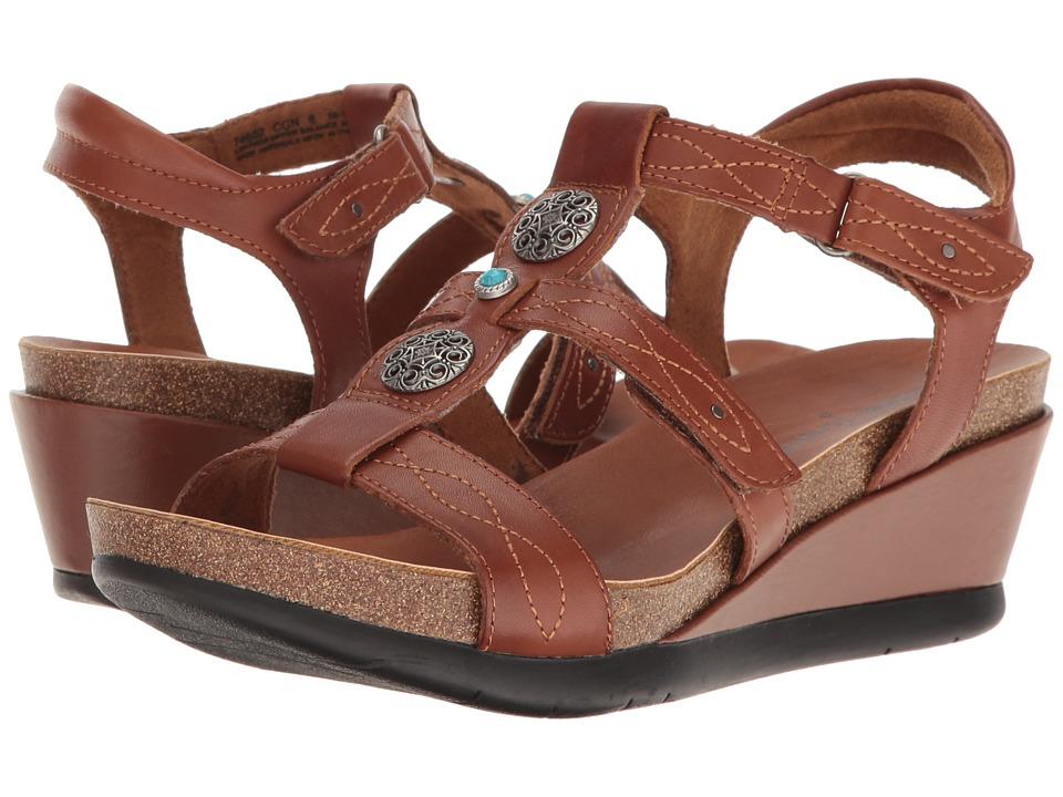 Minnetonka - Della (Cognac Leather) Women's Sandals