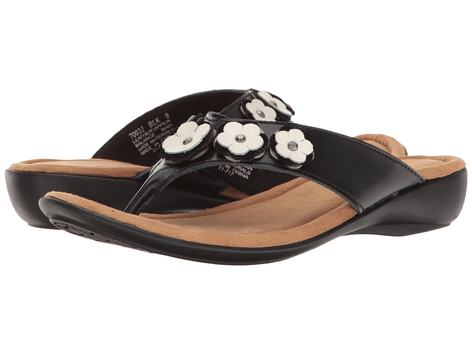 Minnetonka - Solana (Black Leather) Women's Sandals