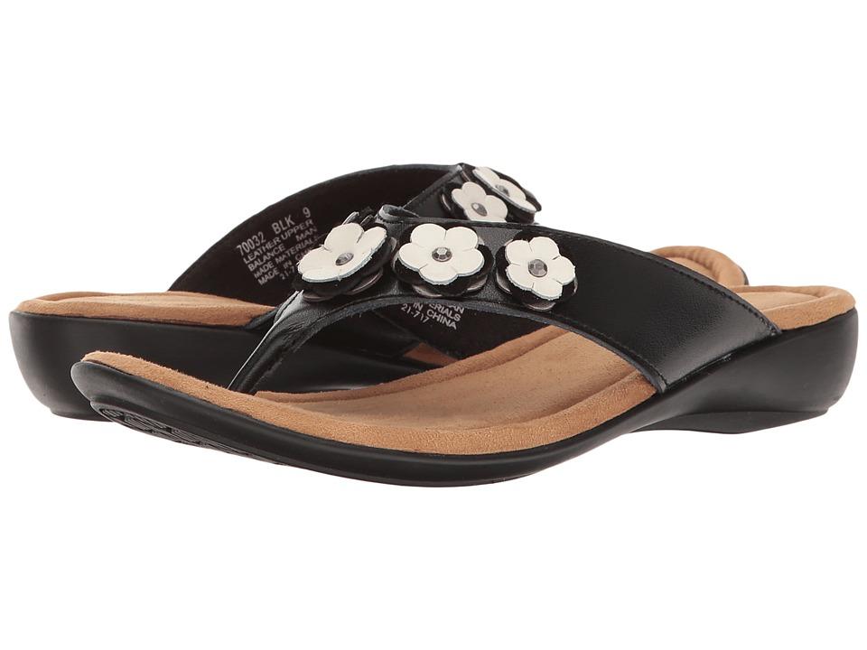 Minnetonka - Solana (Black Leather) Women's Sandals